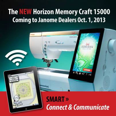 Janome Memory Craft 15000 available