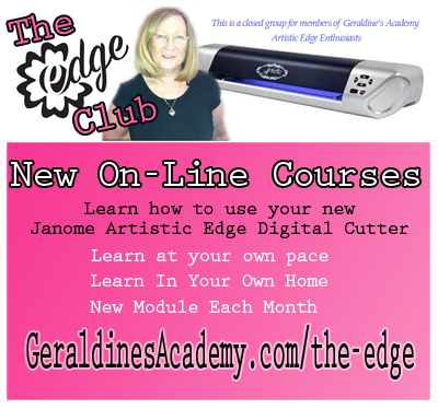 Janome Artistic Edge Digital Cutter - Tutorials Courses, Lessons